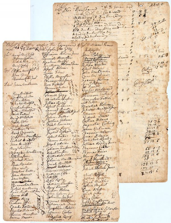 5: FRENCH & INDIAN WAR LIST OF SOLDIERS Manuscript 1762