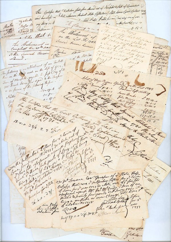 7: LARGE COLLECTION OF 18TH CENTURY TAX AND ABATEMENT D