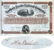 483: NORTHERN PACIFIC RAILROAD SIGND HENRY WARD BEECHER