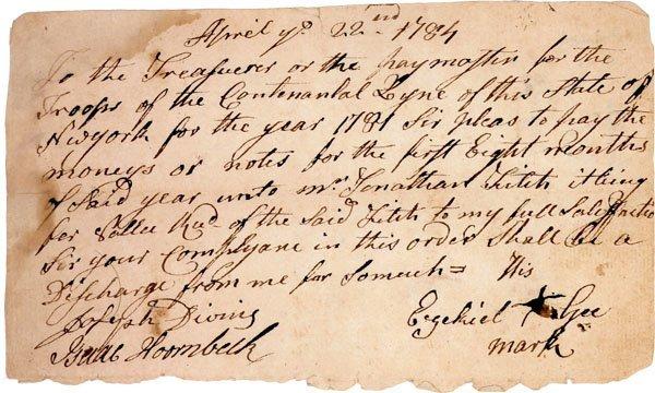 10: Revolutionary War Manuscript Document