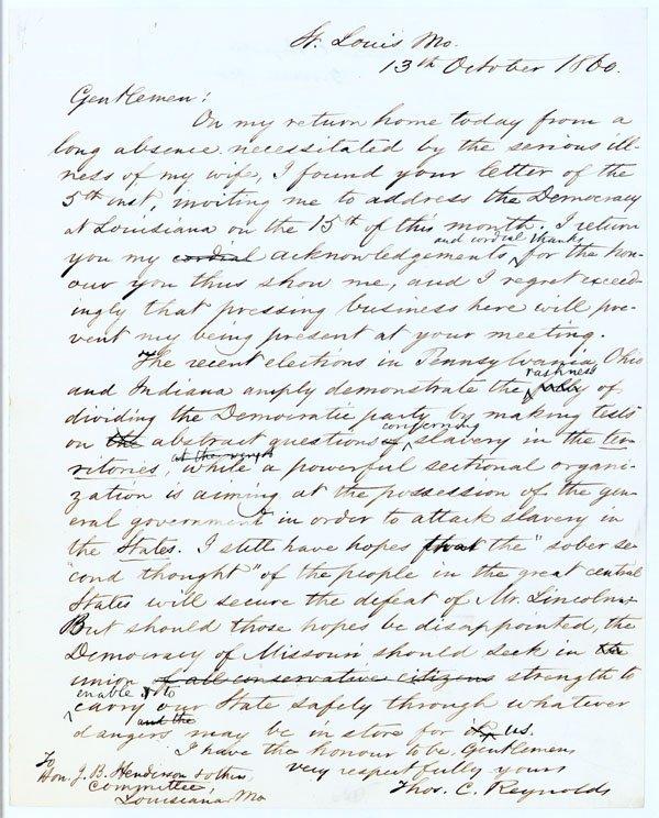 211:CONFEDERATE GOV. TO AUTHOR OF THE 13th AMENDMENT