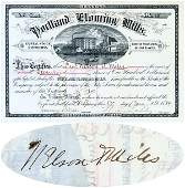 432:PORTLAND FLOURING MILLS SIGNED BY GEN. NELSON MILES