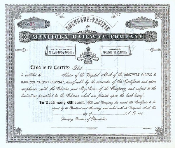 895: Northern Pacific and Manitoba Railway Company