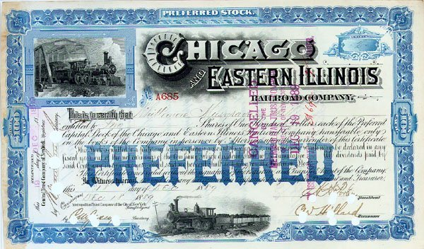 2012: CHICAGO & EASTERN ILLINOIS RR CO.