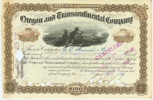 2023: OREGON & TRANSCONTINENTAL CO.