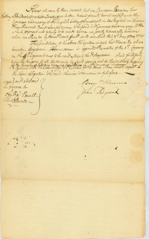 1: BOND RAISING REGIMENT AFTER LEXINGTON & CONCORD!