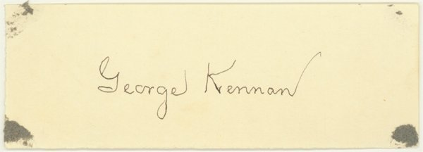 2012: GEORGE KENNAN, A KEY FIGURE THE COLD WAR