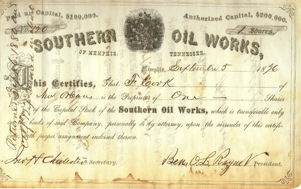 622: SOUTHERN OIL WORKS