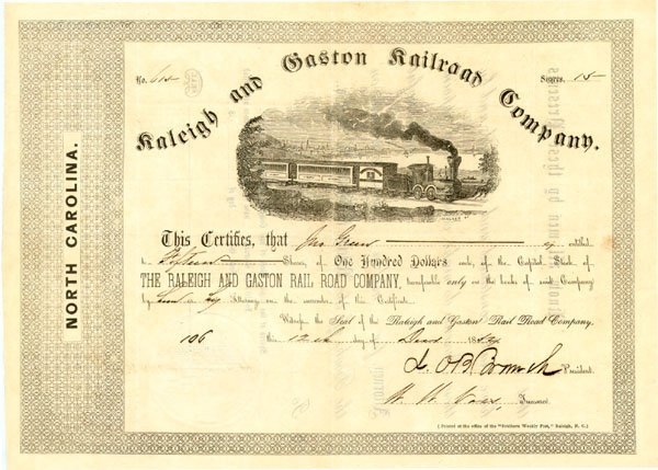 624: STOCK SIGNED AS PRESIDENT BY CSA GEN. BRANCH