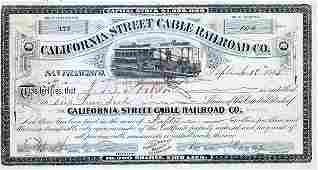 1079: CALIFORNIA STREET CABLE RAILROAD STOCK