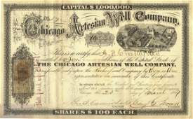1135: CHICAGO ARTESIAN WELL COMPANY STOCK