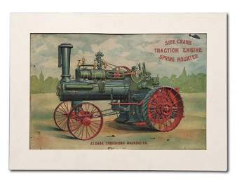 1363: A RARE TIN J.I. CASE ADVERTISEMENT
