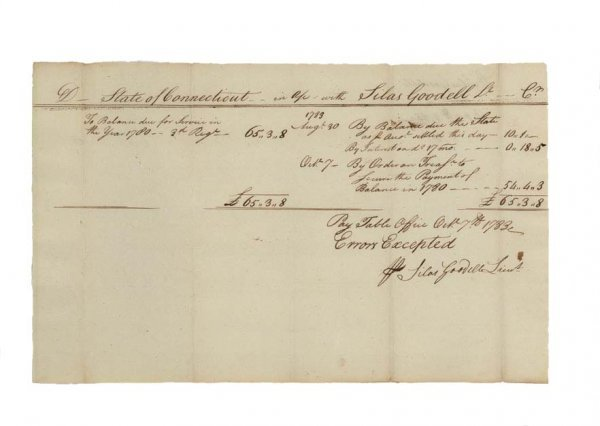 13: SETTLEMENT FOR A SOLDIER'S SERVICE IN 3rd CT