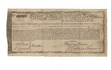"""19: CONTINENTAL ARMY """"COMMODITIES BOND"""""""