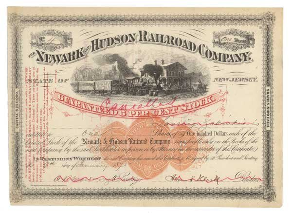 2005: RAILROAD CO SIGNED BY ABRAM HEWITT