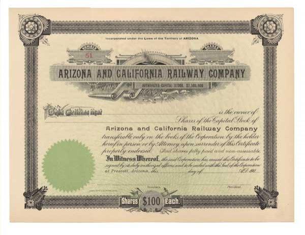 2010: ARIZONA AND CALIFORNIA RAILWAY COMPANY