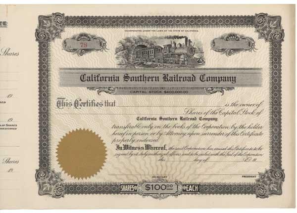 2015: CALIFORNIA SOUTHERN RAILROAD COMPANY