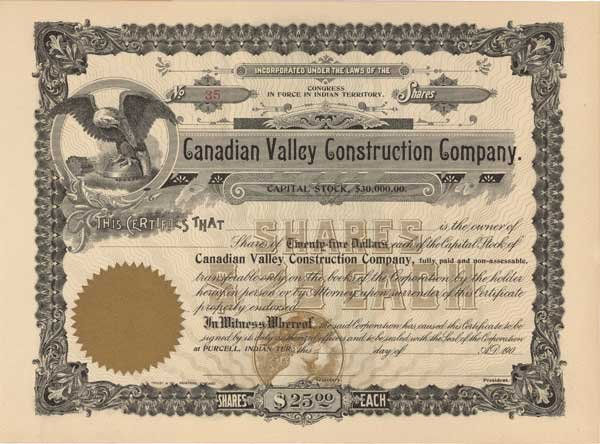 2016: CANADIAN VALLEY CONSTRUCTION COMPANY