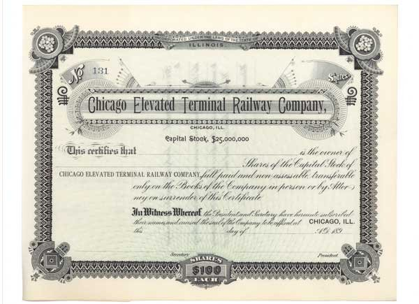 2021: CHICAGO ELEVATED TERMINAL RAILWAY COMPANY