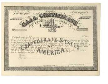 2446: SCARCE CONFEDERATE 4% CALL CERTIFICATE
