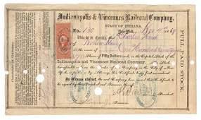 97: SIGNED BY AMBROSE E. BURNSIDE AS PRESIDENT