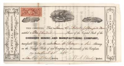 305: CHESHIRE MINING AND MANUFACTURING COMPANY