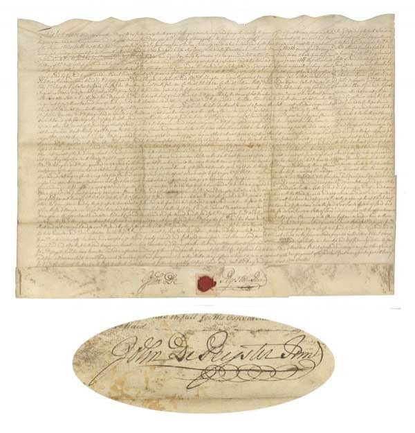 15A: AN INDENTURE FOR FORTY THREE THOUSAND ACRES SIGNED