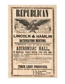 80A: EARLY LINCOLN-HAMLIN NOMINATION  BROADSIDE
