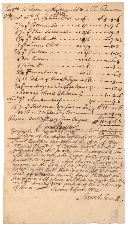 3: WITCH TRIAL MAGISTRATE SAMUEL SEWALL