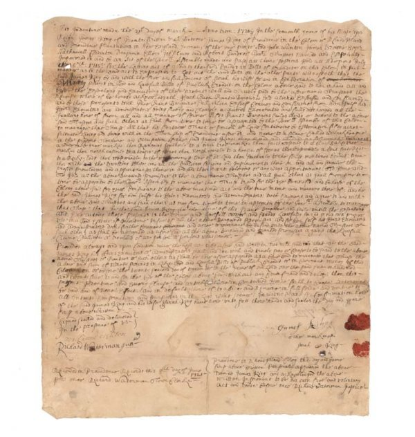 13: EARLY R.I. DOCUMENT CONCERNING GOV. JOHN WANTON