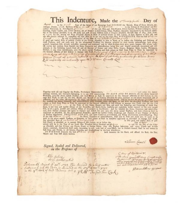14: PARTIALLY PRINTED R.I. INDENTURE