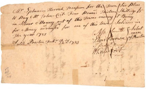 22: SIGNED BY FOUR PRESTON TOWN SELECTMEN