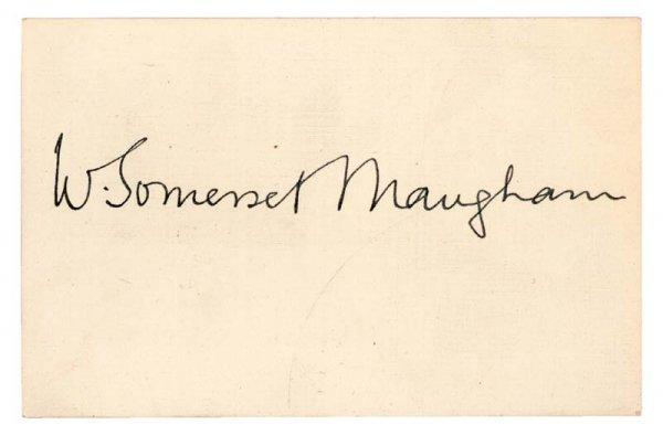 415: WILLIAM SOMERSET MAUGHAM