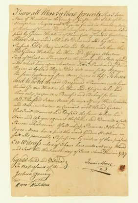 EARLY NEW HAMPSHIRE DEED