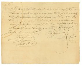 20: DOCUMENT SIGNED BY THOMAS SEYMOUR