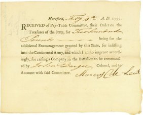 22: WAR DATE BOUNTY FOR  OFFICER IN THE CT LINE