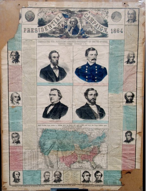 142: GREAT  1864 PRESIDENTIAL CAMPAIGN BROADSIDE