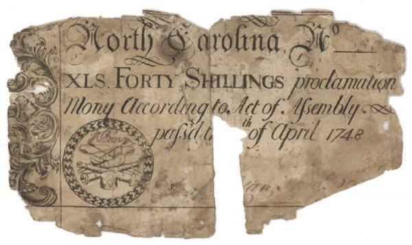 12: SCARCE 1748 40 SHILLINGS