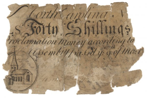 16: NORTH CAROLINA FORTY SHILLINGS COLONIAL NOTE