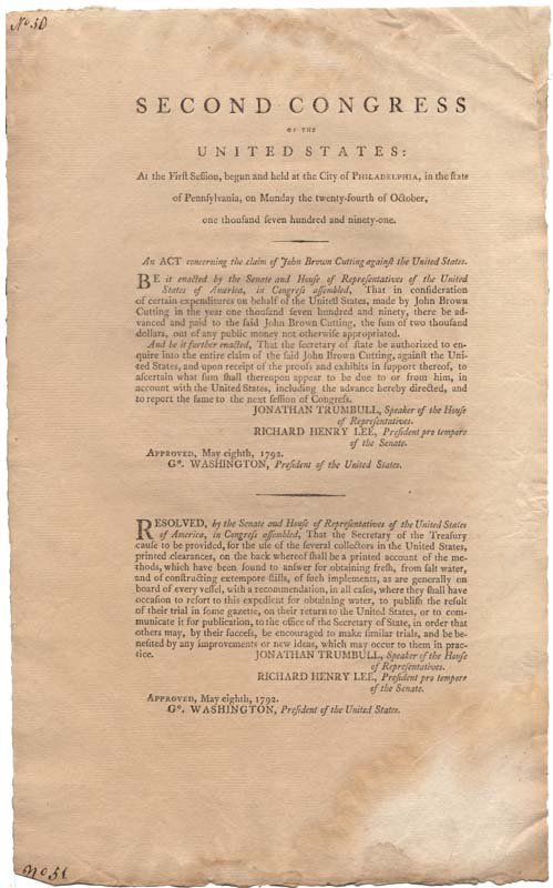 1: PRINTED ACT OF THE SECOND CONGRESS
