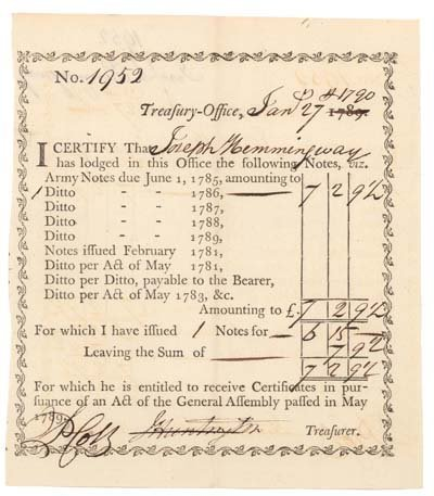 5: MASS BAY BOND ISSUED DURING THE REVOLUTION