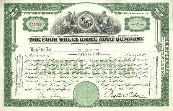 6: Four Wheel Drive Auto Company