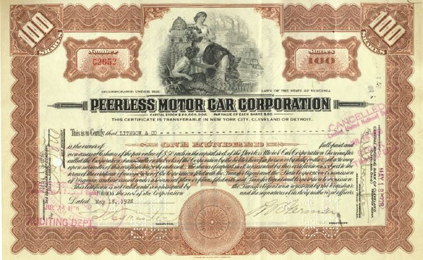 8: Peerless Motor Car Corporation