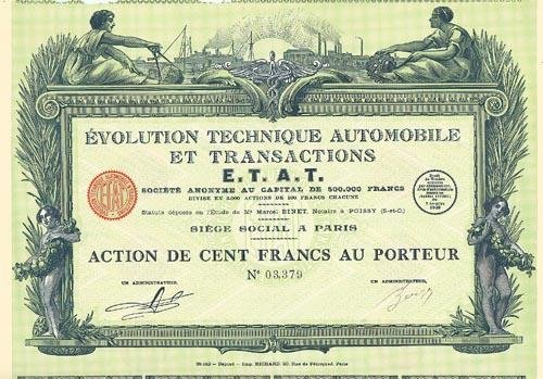 14: Evolution Technique Automobile Et Transactions E.T.