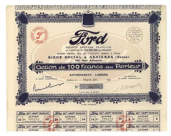 18: Ford Societe Anonyme Francaise
