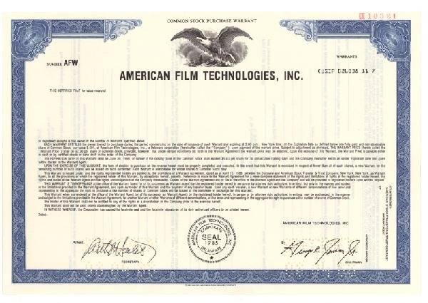 244: American Film Technologies, Inc.