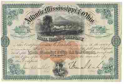 339: Atlantic, Mississippi & Ohio Railroad Stock Signed