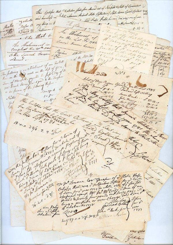 1: Collection Of 18th Century Tax & Abatement Documents