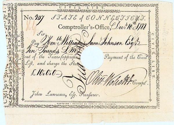 12: CT  Paynote to William Samuel Johnson