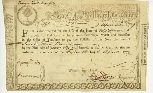 3:State Of MA Bay Bond Issued/Finance A Naval Officers